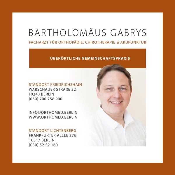 Orthomed Berlin – Praxis Bartholomäus Gabrys Praxis HeLiMo MVZ Nibelungen