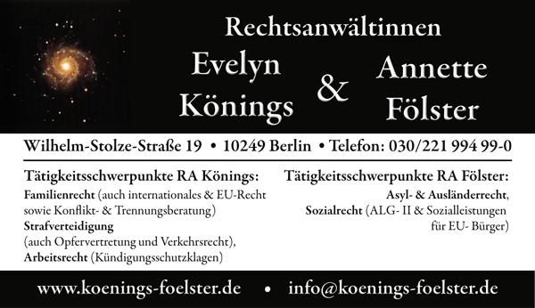 Rechtsanwältinnen Könings & Fölster