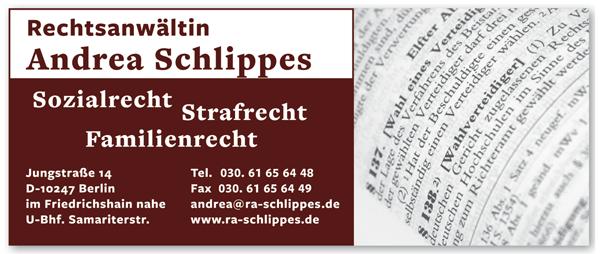 Rechtsanwältin Andrea Schlippes