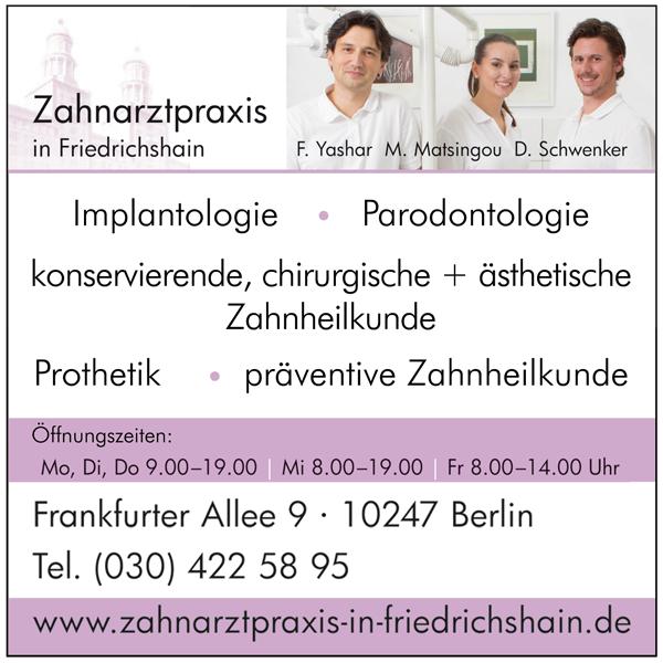 Zahnarzt Friedrichshain Yashar & Partner