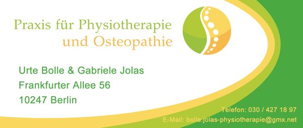 Praxis für Physiotherapie & Osteopathie Urte Bolle & Gabriele Jolas