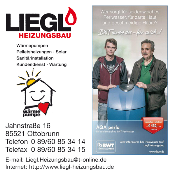 Job´s, bei Liegl Heizungsbau in München-Ottobrunn