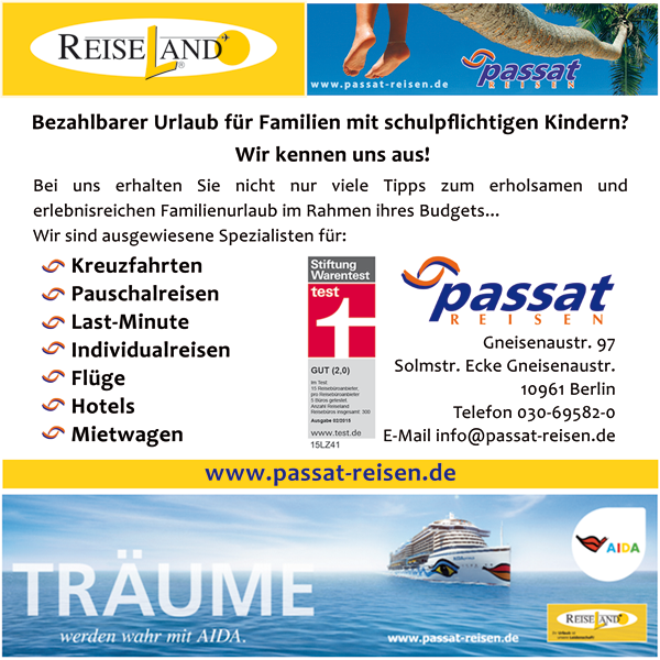News von Passat Reisen, Reiseland in Berlin