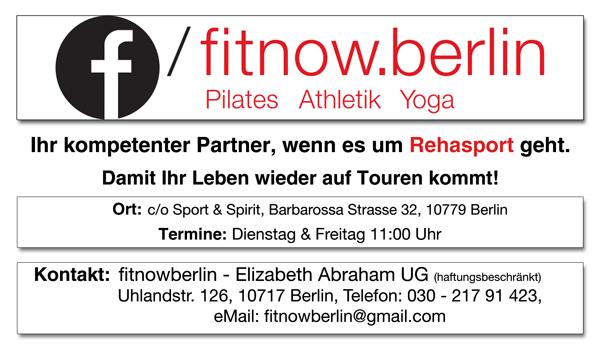 Neue Kurse bei Fit-Now-Berlin