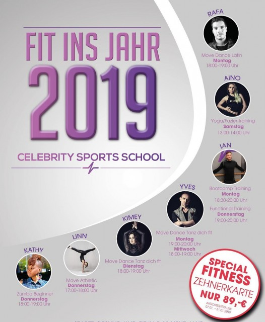 Fit ins Jahr 2019 mit CELEBRITY SPORTS SCHOOL