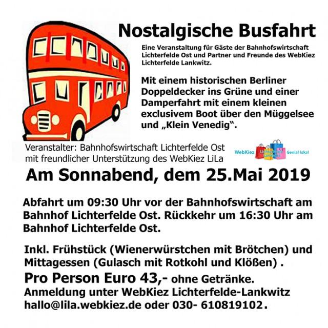 Nostalgische Busfahrt
