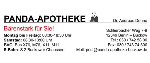 Aktuelles Stellenangebot von Panda Apotheke in Berlin Buckow