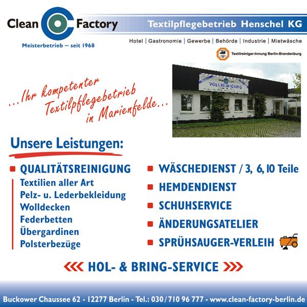Wieder ein neuer Partner von Nutz Deinen Ort, dann bleiben wir dort!- Clean Factory in Berlin Marienfelde