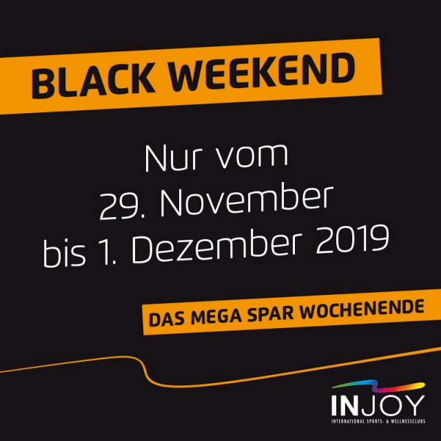 BLACK FITNESS WEEKEND – das mega SPAR-Wochenende bei INJOY