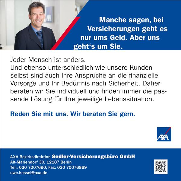 News von Sedler Versicherungsbüro GmbH in Berlin