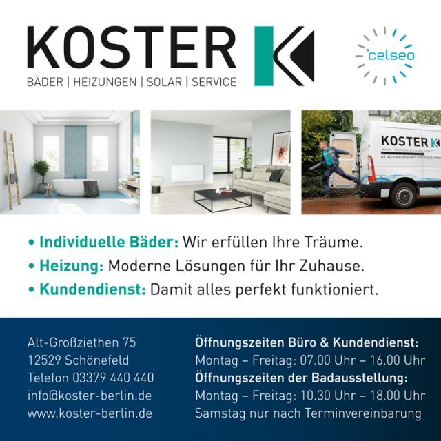 """KOSTER GmbH Sanitär sucht: """"Anlagenmechaniker (M/W/D) Sanitär, Heizungs- u. Klimatechnik auch gerne mit Schwerpunkt Kessel- und Regelungstechnik"""""""