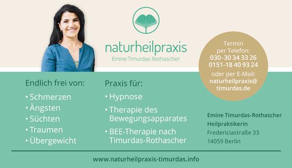 Emine Timurdas-Rothascher Heilpraktikerin BEE-Therapie (Bewusstsein-Entwicklung-Entfaltung)