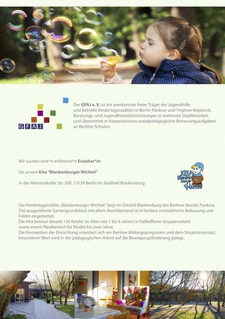 Jobs bei GFAJ e.V. Erzieher°in in Berlin Blankenburg und Leiter°in in Berlin Treptow