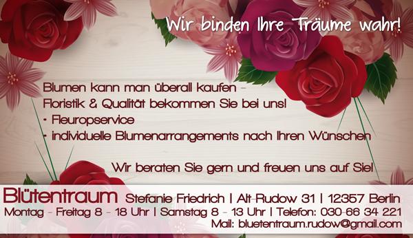 News von Blütentraum in Rudow