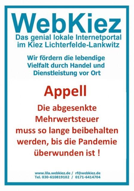 News von WebKiez in Lichterfelde-Lankwitz
