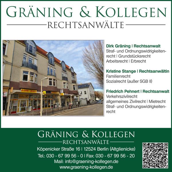 Wieder News von Gräning & Kollegen Rechtsanwälte