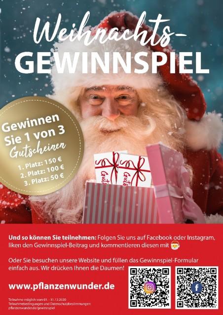 News von PlanzenWunder-Gartencenter Lankwitz - Weihnachts-Gewinnspiel