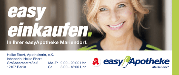 easy Apotheke Großbeerenstr. 2 in Mariendorf: Geänderte Öffnungszeiten