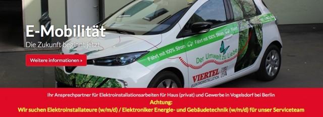 VIERTEL Elektroinstallation sucht Mitarbeiter