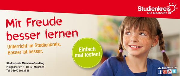 """Studienkreis  München Sendling """"Neue Ferienkurse"""""""