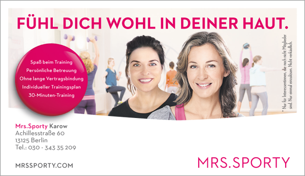 Job´s bei Mrs. Sporty in Berlin