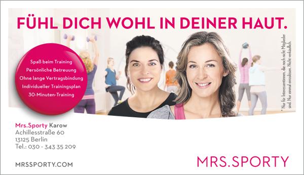 Job´s bei Mrs. Sporty in Berlin