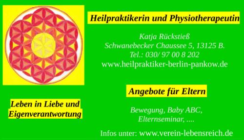 Angebote von Heilpraktikerin Physiotherapeutin Katja Rückstieß in Berlin