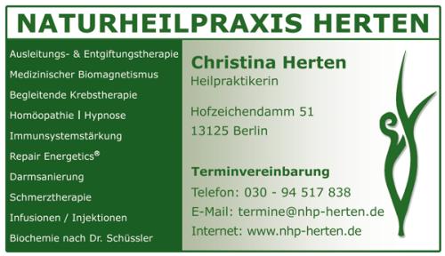 Aktuelle Veranstaltungen von Naturheilpraxis Herten in Berlin