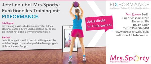 Job´s bei Mrs. Sporty in Berlin-Friedrichshain-Nord