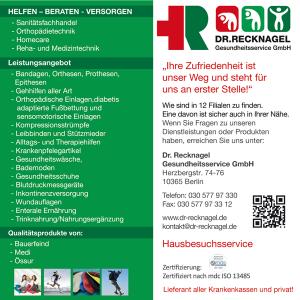Job´s, bei Dr. Recknagel Gesundheitsservice GmbH in Berlin