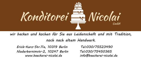 Job´s, bei der Konditorei Nicolai GmbH Berlin