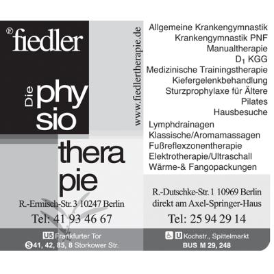 Job´s, bei Fiedler Physiotherapie in Berlin - Nutz\' Deinen Ort dann ...