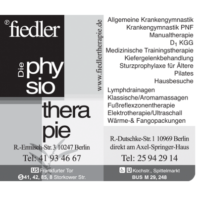 Job´s, bei Fiedler Physiotherapie in Berlin