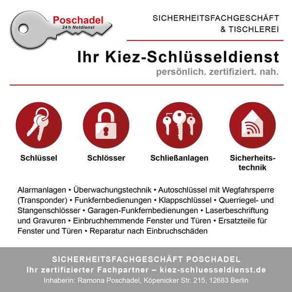 Sicherheitsfachgeschäft & Kiez-Schlüsseldienst Poschadel