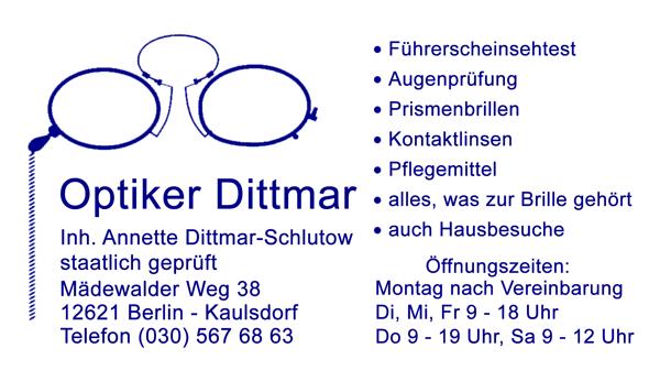 Optiker Dittmar