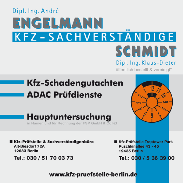 KFZ Sachverständige Engelmann & Schmidt Biesdorf