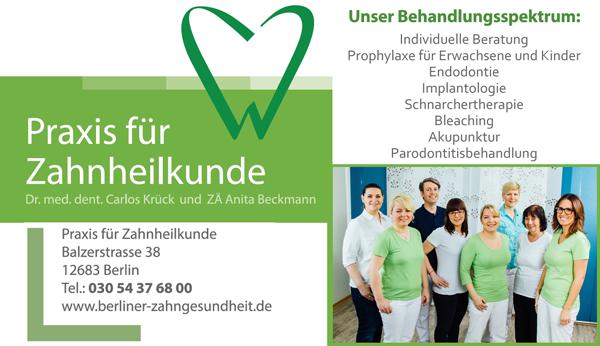 Praxis für Zahnheilkunde Anita Beckmann & Carlos Krück