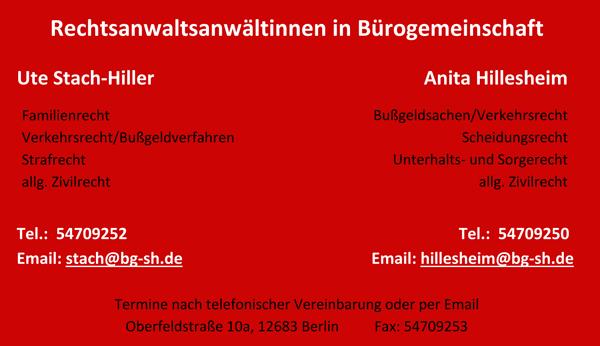 Anwaltliche Bürogemeinschaft Stach-Hiller & Hillesheim