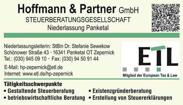 Steuerberatung im Panketal ETL Hoffmann & Partner GmbH