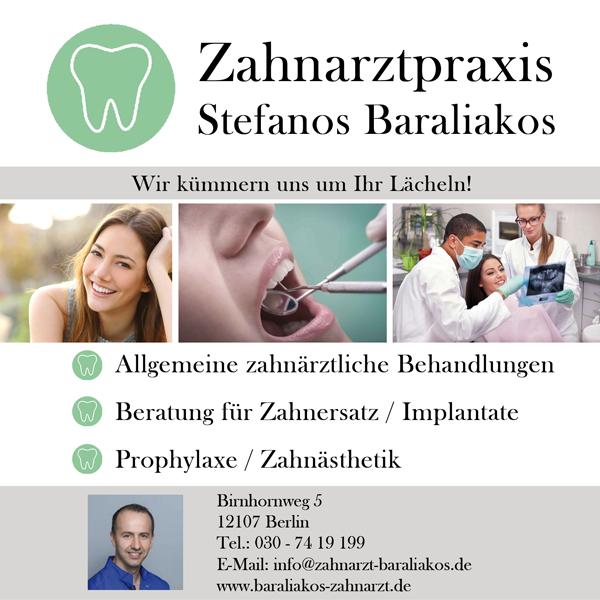 Zahnarztpraxis Stefanos Baraliakos