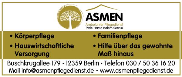 ASMEN Ambulanter Pflegdienst und All Tagespflege Rudow