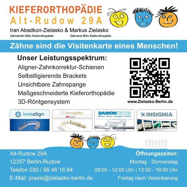 Zahnarztpraxis & Kieferorthopädie Zielasko Rudow