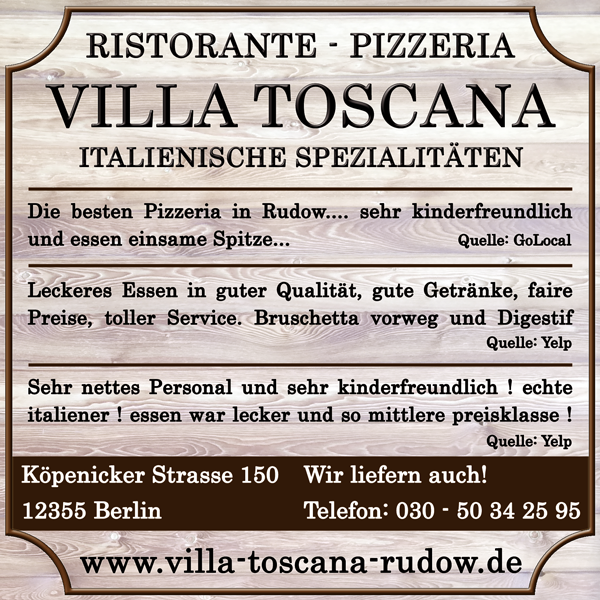 Villa Toscana Restaurant  Rudow