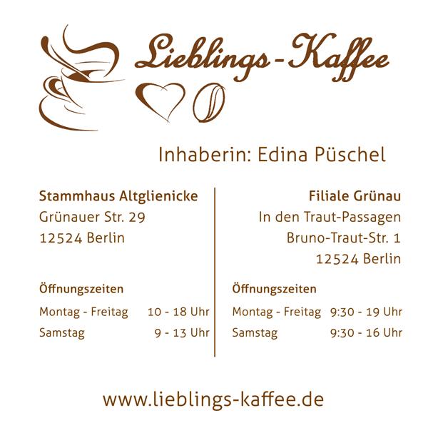 Lieblings-Kaffee - Rudow / Altglienicke / Grünau