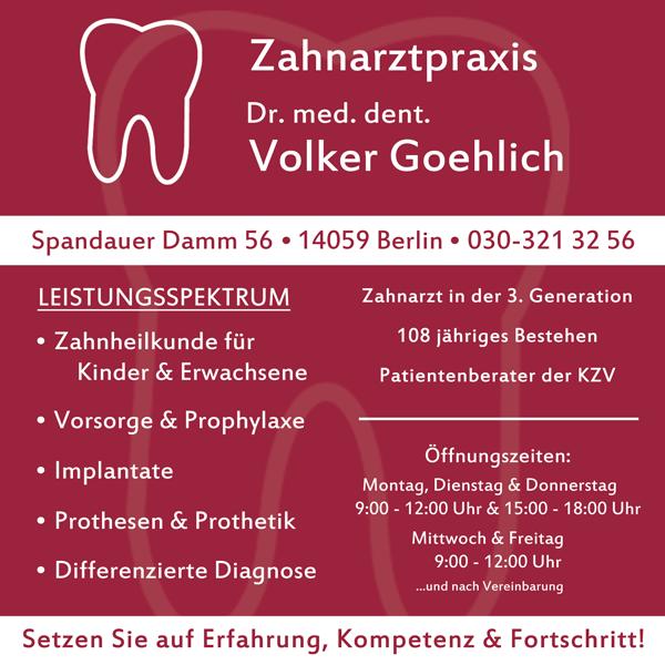 Zahnarztpraxis Dr. med. dent. Volker Goehlich