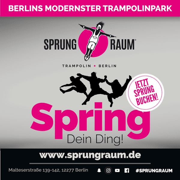 Sprung Raum Trampolinpark Berlin