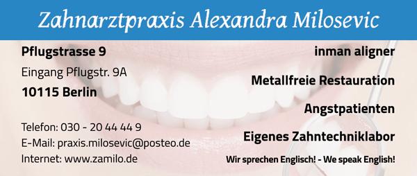 Zahnarztpraxis Alexandra Milosevic