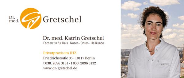 Dr. med. Katrin Gretschel Fachärztin für Hals-, Nasen- und Ohren-Heilkunde  Privatpraxis im IHZ