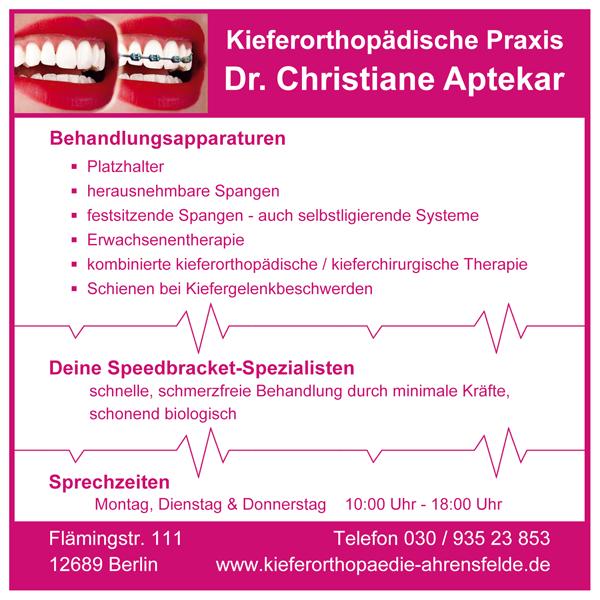 Kieferorthopädie Ahrensfelde Dr. Christiane Aptekar