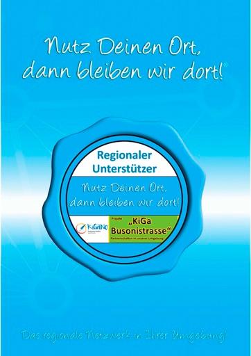 Projekt-Broschüre  Kita & FZ Busonistrasse